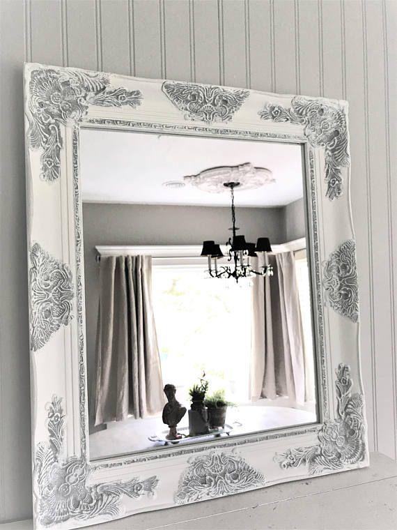 Shabby Chic Mirror, Large Mirror, Bathroom Mirror, Vanity Mirror, Baroque  Mirror, Wall Mirror, Ornate Mirror, Custom Colors