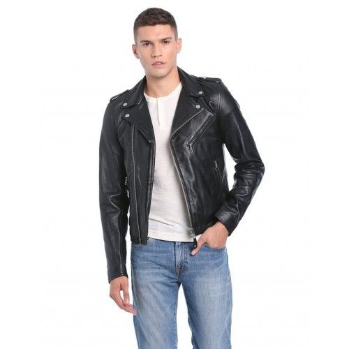 Schott NYC Men's Leather Long Sleeve Jacket From Ace Collection
