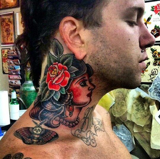 5f593de5e Fronz neck tattoo | Tatted up | Tattoos, Skull, Band