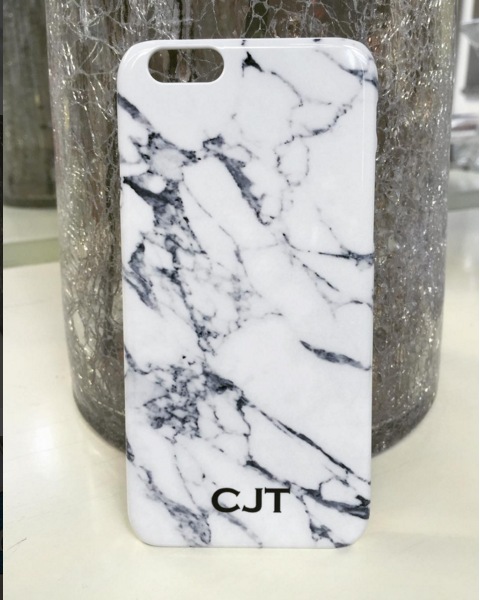 san francisco e2bf6 086c5 The beautiful marble initial phone case is available with small ...