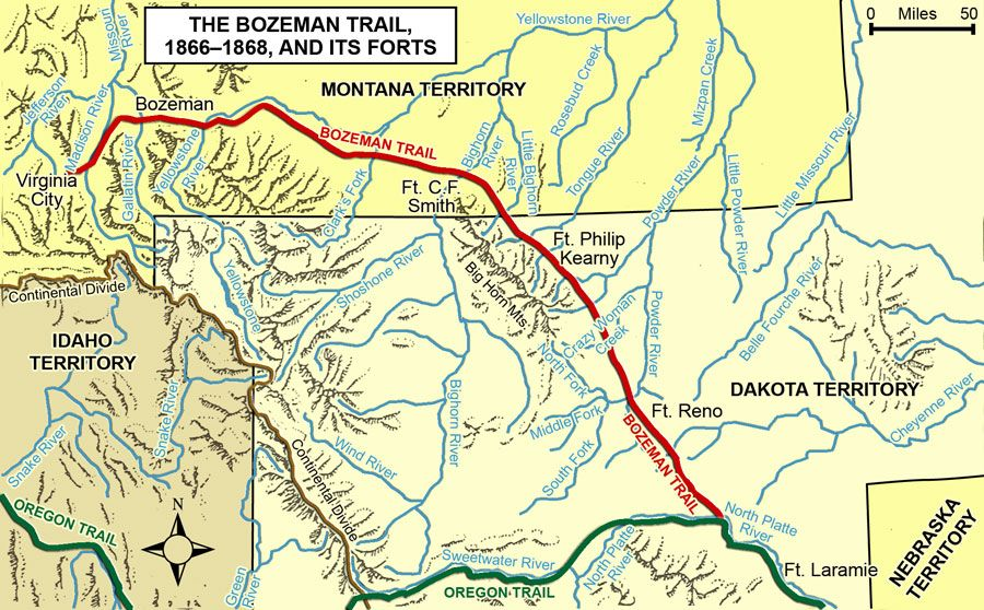Bozeman Trail War 1866 Oregon Trail Pinterest Oregon trail