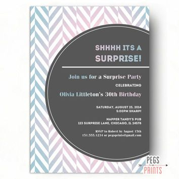 Colorful surprise party invitation for women adult surprise colorful surprise party invitation for women adult surprise birthday invites printable surprise 30th birthday filmwisefo