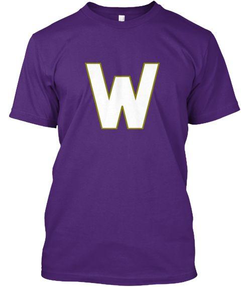 W Purple T-Shirt Front