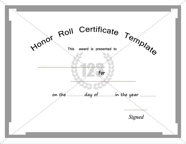 Free and Premium Honor Roll Certificate Templates - free award certificates