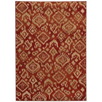 The Conestoga Trading Co. Belle Red/Beige Area Rug Rug Size: