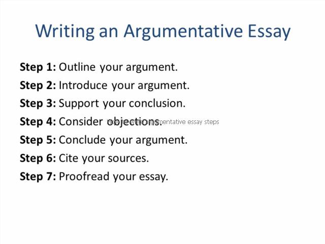 How To Write Argumentative Essay Step Writing A Steps
