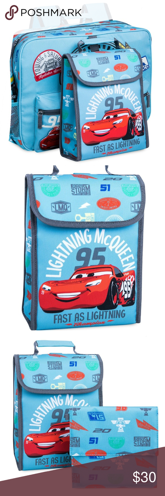 42e7cc118e6 Cars 3 Backpack Lunchbox Set Lightning McQueen Brand new by Disney Store  Disney Accessories Bags