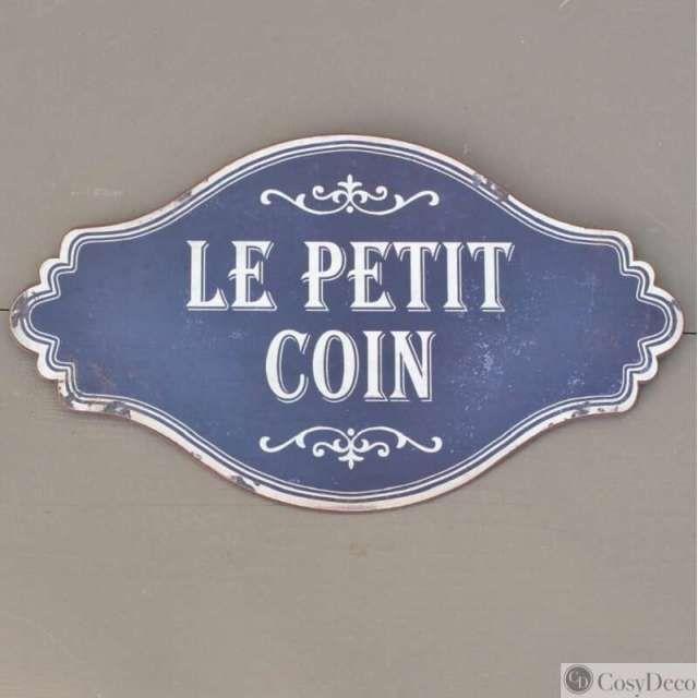 plaque le petit coin style r tro vintage en m tal vente en ligne plaque de porte objet