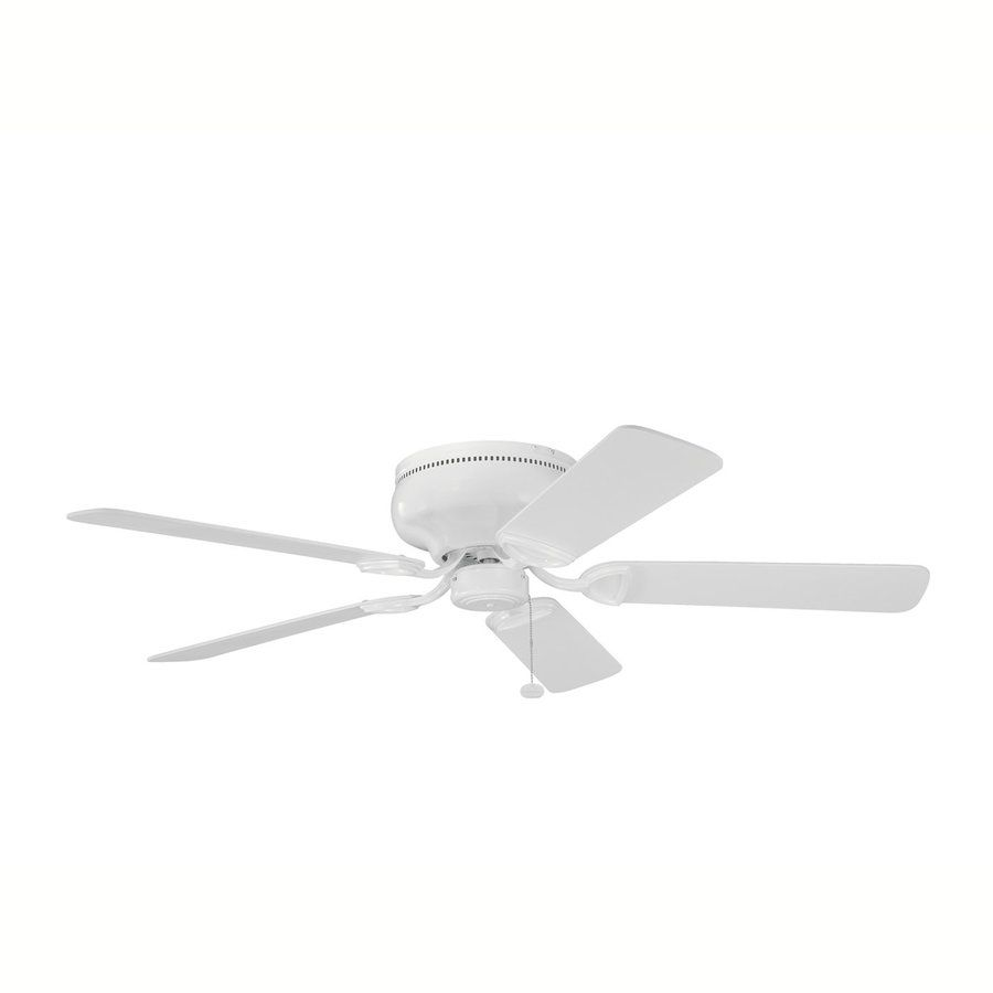 I Would Do Simple White Ceiling Fans With No Light Kit Kichler 52