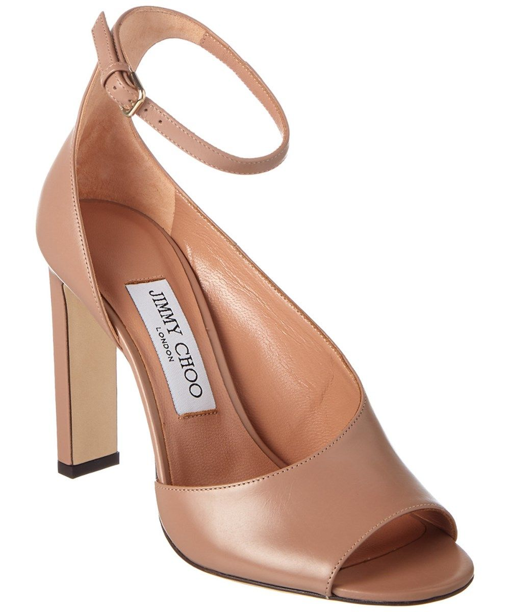 e150b31720e8a JIMMY CHOO Jimmy Choo Theresa 100 Calf Leather Sandal.  jimmychoo  shoes