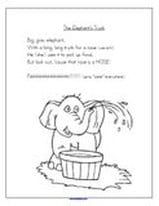 Elephants theme activities and printables for preschool