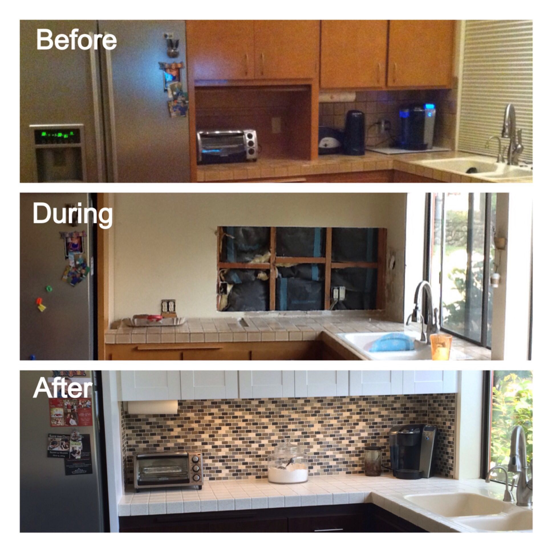 Before And After Kitchen Remodel Remove Appliance Garage Gain Counter Space How To Remove Kitchen Cabinets Kitchen Cabinets Kitchen Board