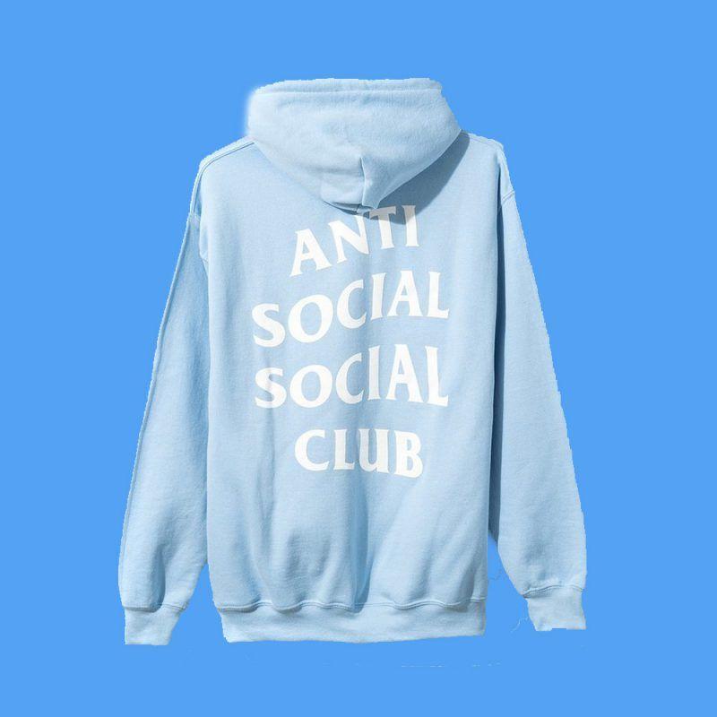 Anti Social Social Club Blue Hoodie Back Stereotipes Anti Social Social Club Anti Social Hoodie Anti Social Social Club Hoodie