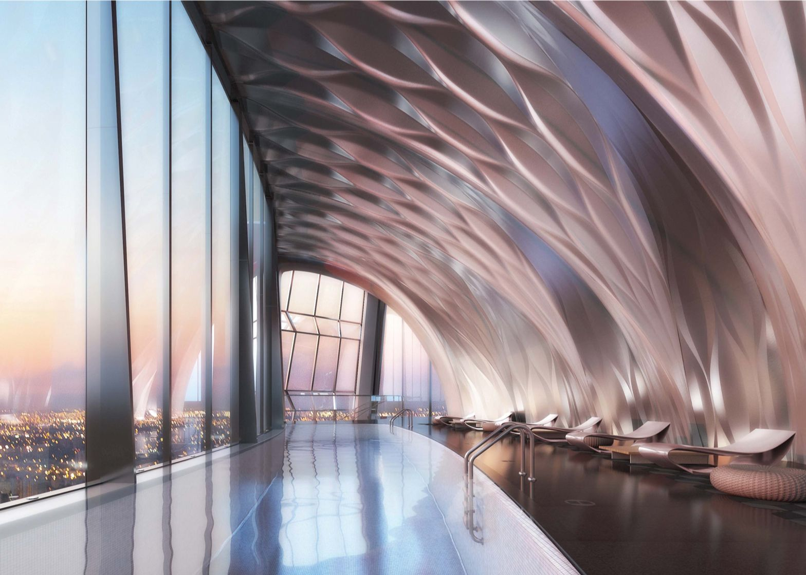 Interiors From Zaha Hadid S Residential Skyscraper One Thousand