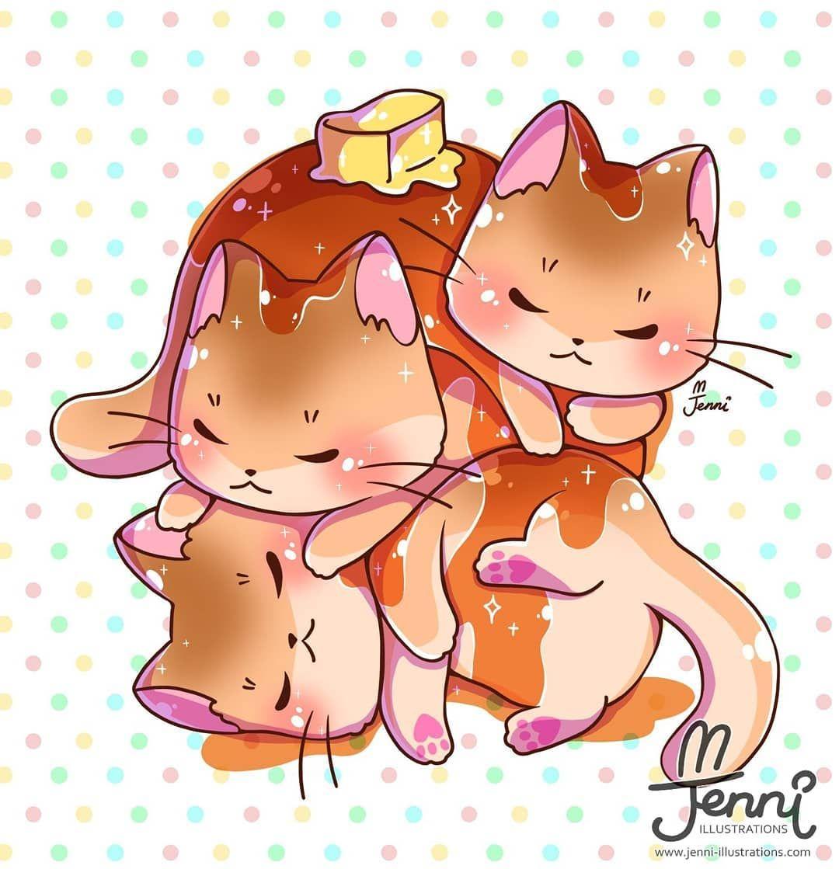 J E N N I On Instagram Stack Of Kitty Pancakes