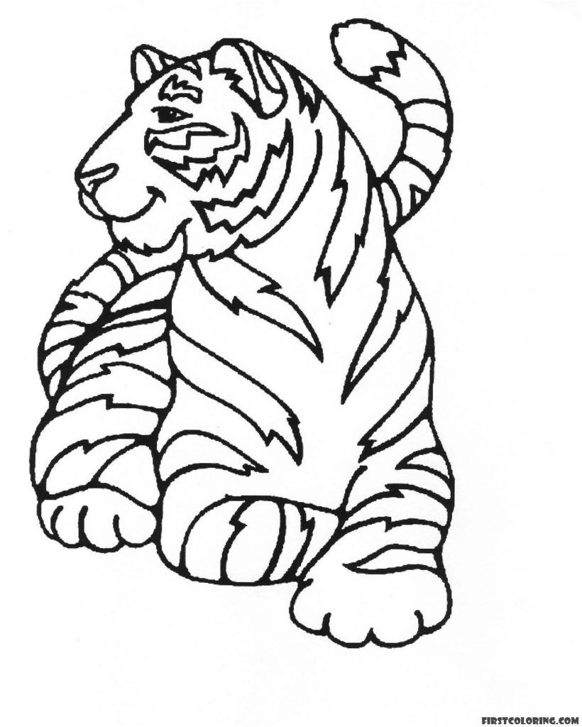 Satisfied Tiger Coloring Page Coloring Pages Snake Coloring Pages Mandala Coloring Pages