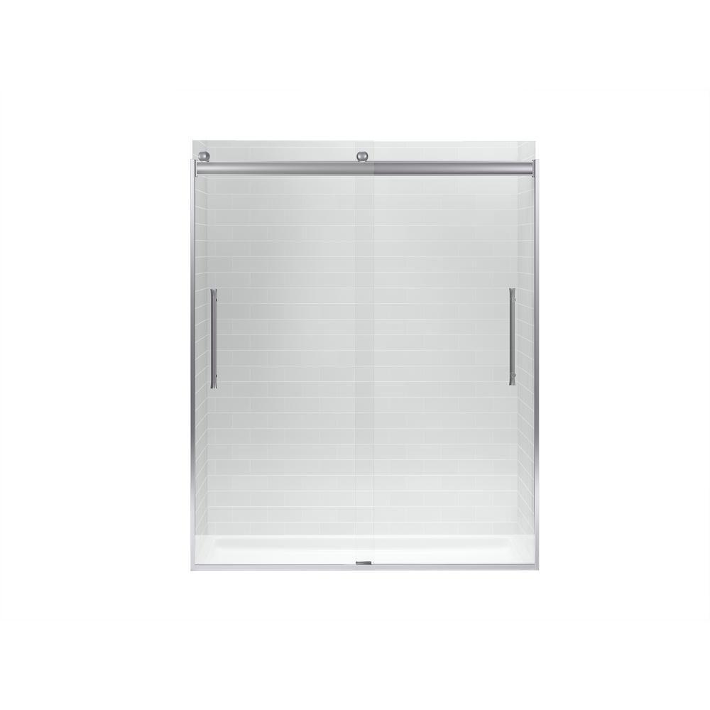 Kohler Elmbrook 59 625 In X 73 5625 In Frameless Sliding Shower