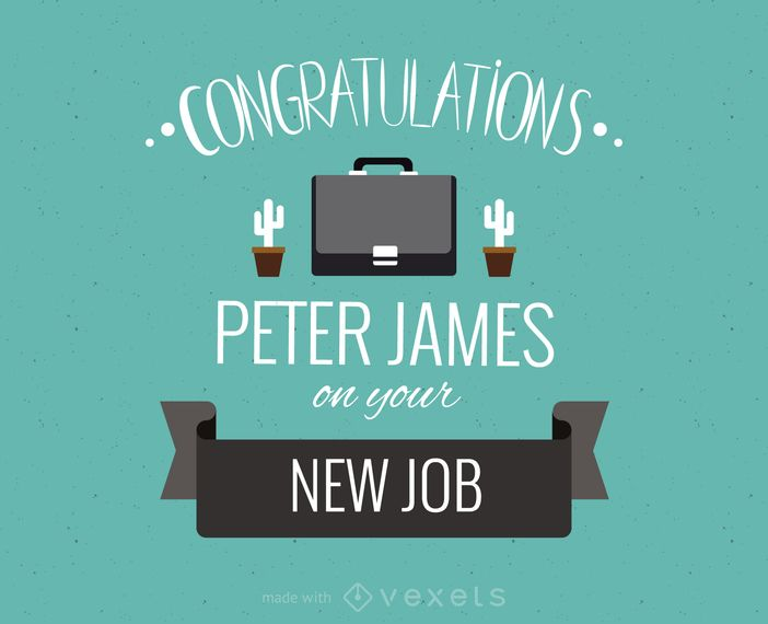 Editable design featuring a new job greeting card this design lets editable design featuring a new job greeting card this design lets you swap between lots m4hsunfo