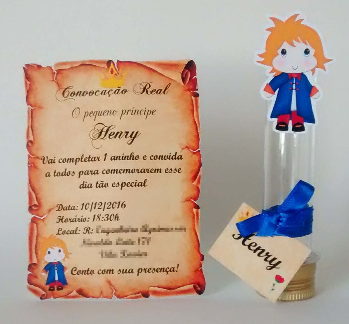 Convite pergaminho tubete Pequeno Principe no Elo7 | Criações da Thaís  (7F25A9) | Convite pequeno principe, Tubete pequeno principe, Pequeno  principe