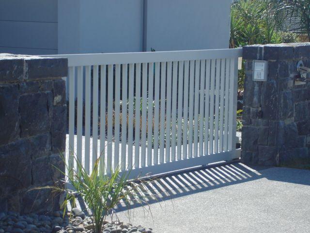 Sliding Driveway Gate Backyard Driveway Landscaping
