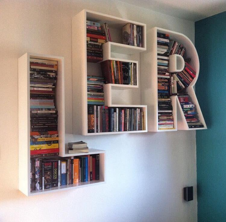 Creativo estante para libros biblioteca en 2019 pinterest muebles repisas y decorar - Estantes para libros ...