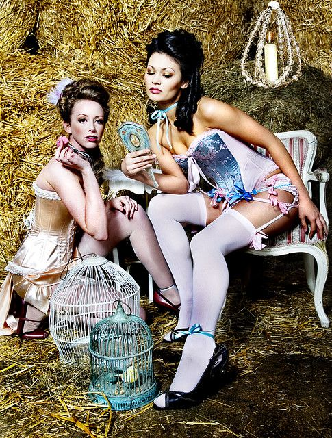 18th century 'inspired' fashion shoot in hay with #corsets #fashionshoot