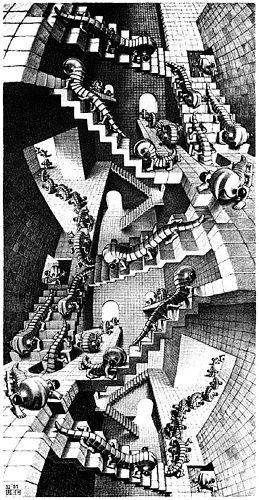 Maurits Cornelis Escher Treppe Mc Escher Kunst Mc Escher