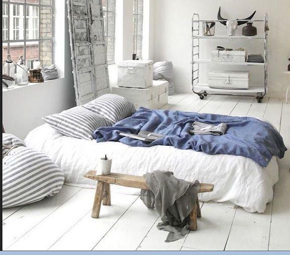 100% Leinen Bettbezug 155x200 Weiß Reißverschluss Bettwäsche FLAX Neu
