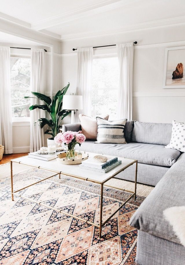 Bohemian and industrial interior style home apartment decor decoration ideas design bedroom living room dining kitchen bathroom also coffee table diamond pattern rug  mix of mid century modern rh in pinterest