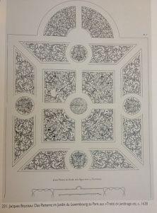 Skizze aus Boyceaus Traité de jardinage selon des raisons de la nature et de l'art (1638). Zeichnung Parterre Boycau
