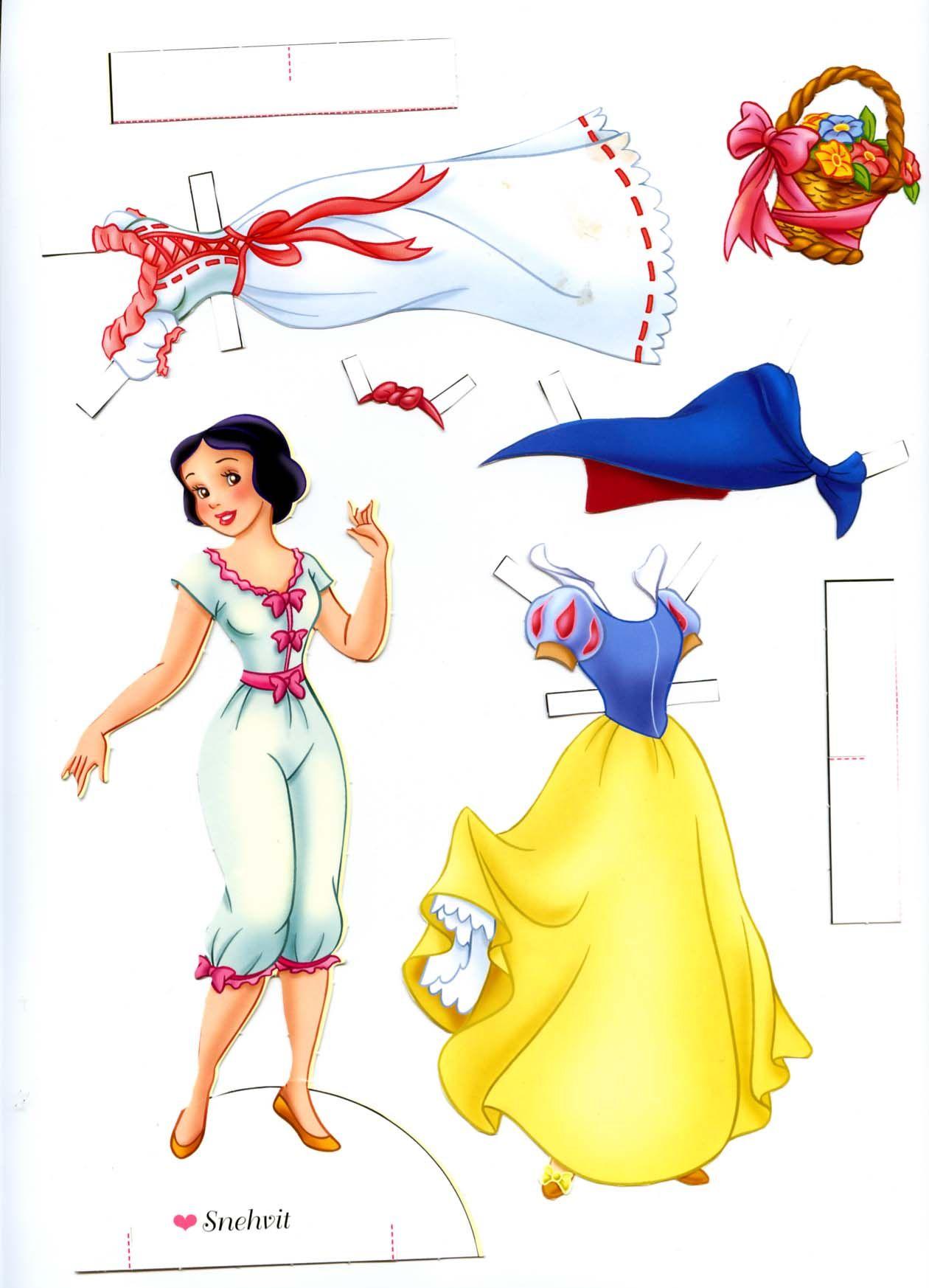 Disney Paper Doll Paper Dolls Pinte