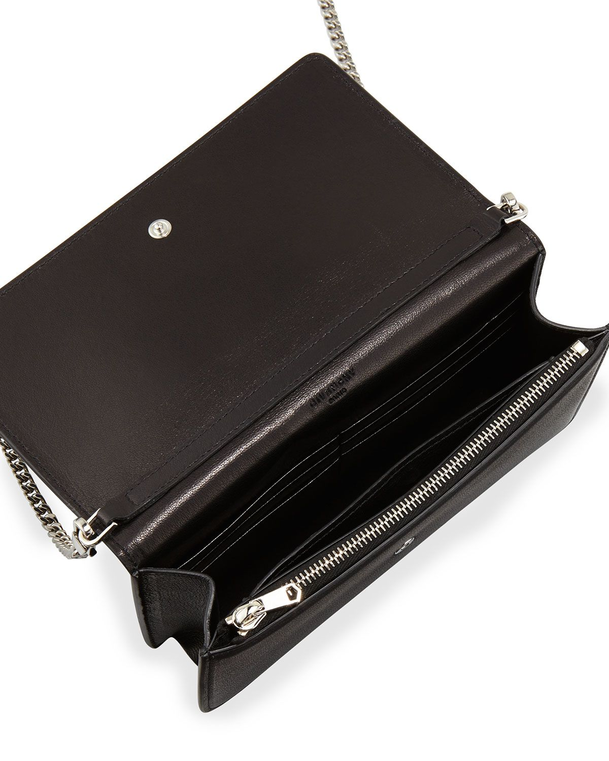 b013b6a34c0 Flap Wallet-on-Chain Black | Products | Wallet, Givenchy, Leather wallet