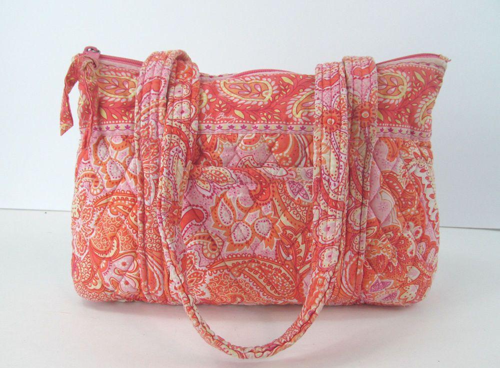 Retired Vera Bradley Orange Sherbet Coral Pink Paisley