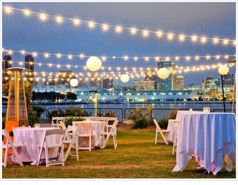 Chic Outdoor Reception Coronado Marriott Island Venues Holiday 2017 Wedding