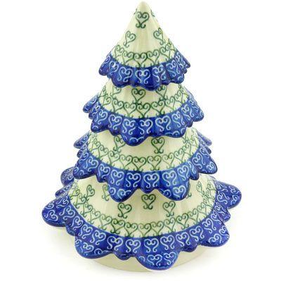 Polish Pottery Christmas Tree 7 Lovely Heart Polish Pottery Pottery Polish Pottery Boleslawiec