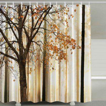 Fall Maple Waterproof Mildewproof Shower Curtain | Cheap bathroom ...