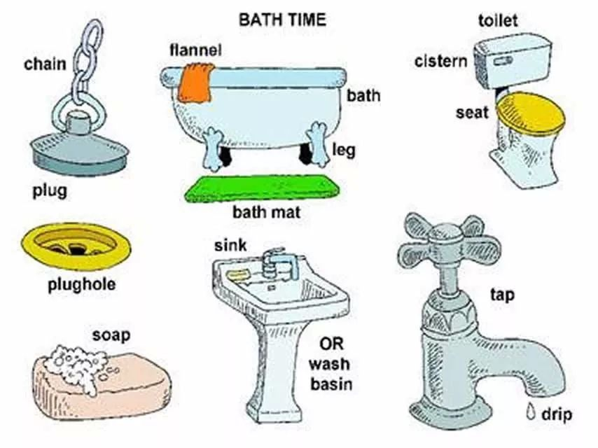 Bathroom Vocabulary Engleski Pinterest English  : 1563fa2dc8faf94137ab41c0955b1c9f from www.pinterest.com size 854 x 640 jpeg 76kB