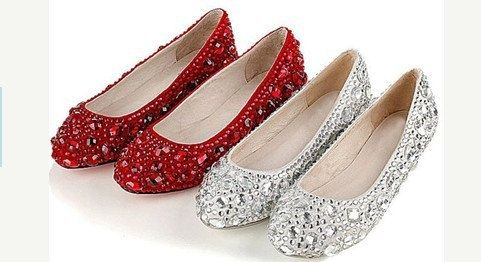 eb1f2812885 wedding shoes sparkly flat shoes bling crystal by casehome1818 ...