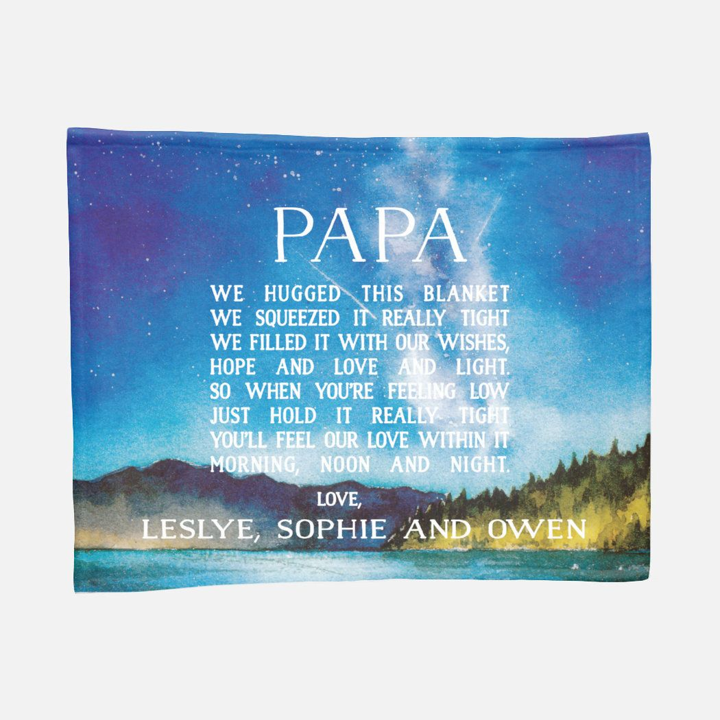 Father's Day Gift, We hugged this Blanket, Dad Blanket, Dad Quote, Grandpa Gift, Father's Day Gift, Gift for Grandpa, Papa Blanket