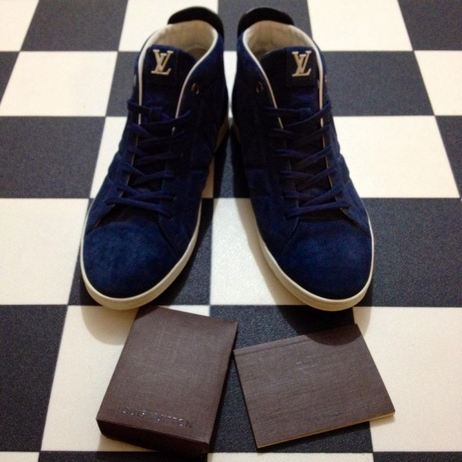 Louis Vuitton Blue Suede Sneakers Louis Vuitton Blue Louis Vuitton Shoes Sneakers Louis Vuitton Sneakers Sneakers