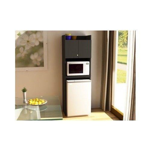 kitchen storage cabinet combo microwave mini fridge dorm studio new
