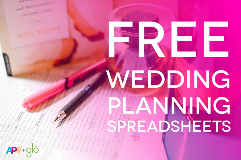 Customizable (And Free) Wedding Spreadsheets Some day I\u0027ll have to - Wedding Budget Excel Spreadsheet