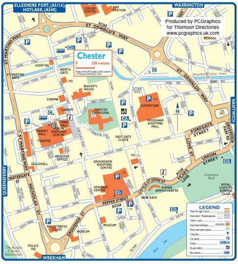 Map Of Chester City Centre Pin by Sharon Myers Knoph on England~The North | Chester city