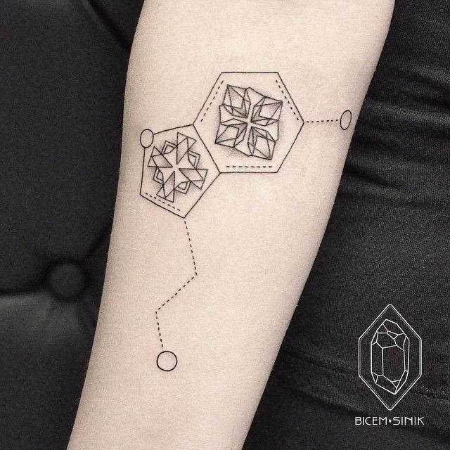 Photo of And chemical nerds will recognize this serotonin molecule. – tattoo artist • I…