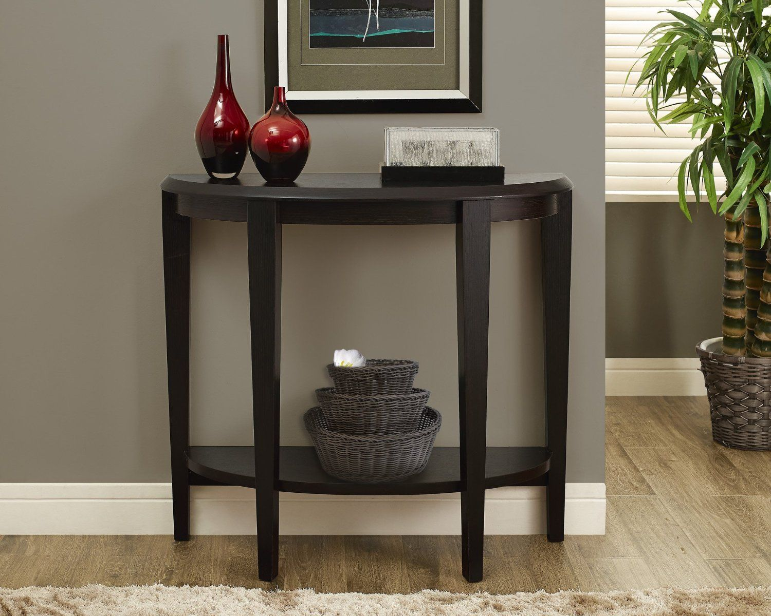 Monarch Specialties Cuccino Hall Console Accent Table 36 Inch Kitchen Dining