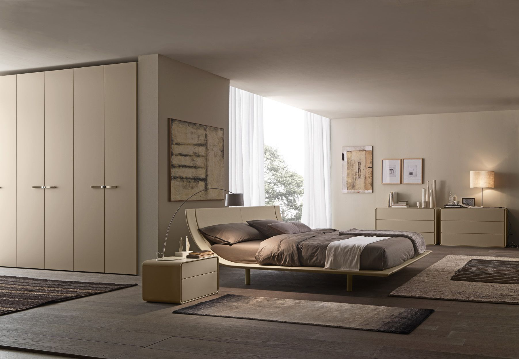 Mia Bedroom Furniture Aqua Bed With An Upholstered Integrated Slatted Base In Mia