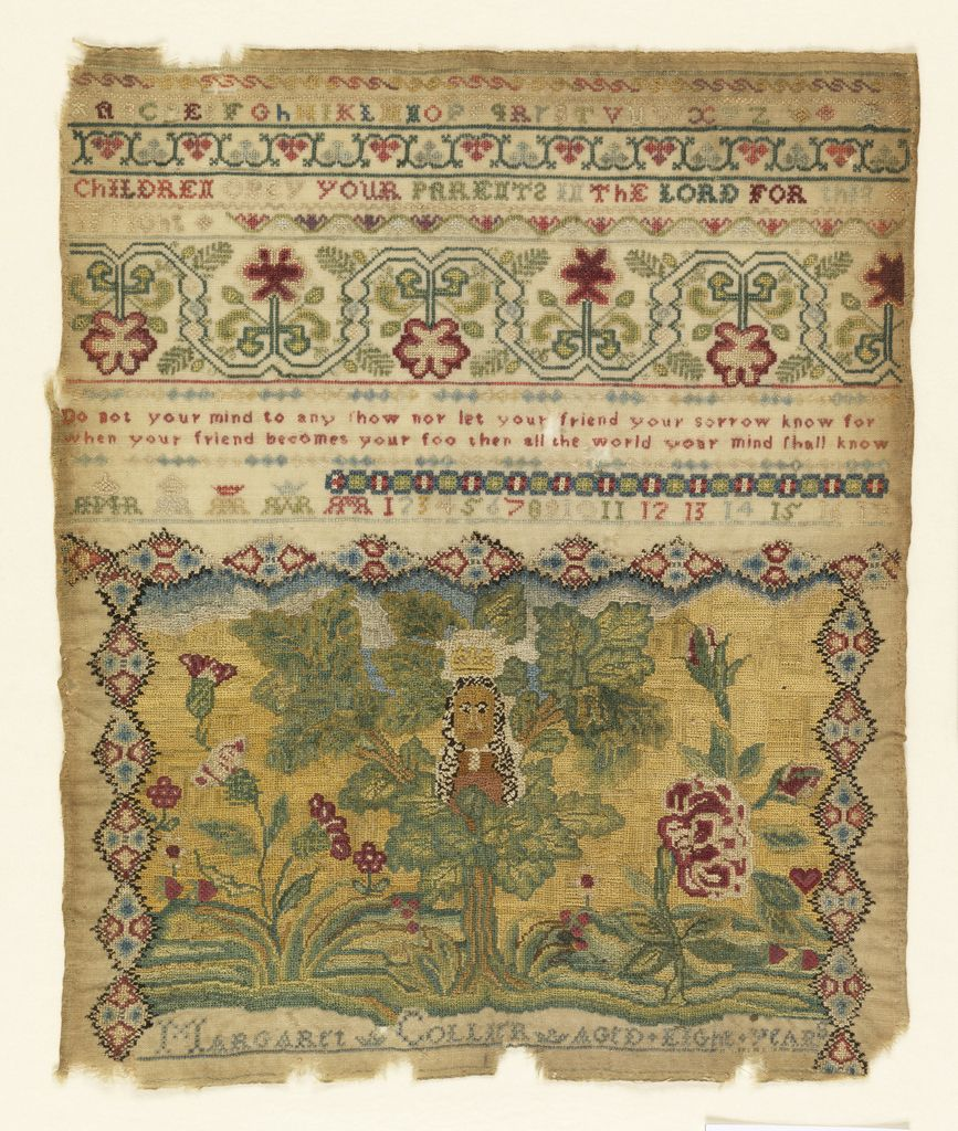 Sampler (England), late 17th century