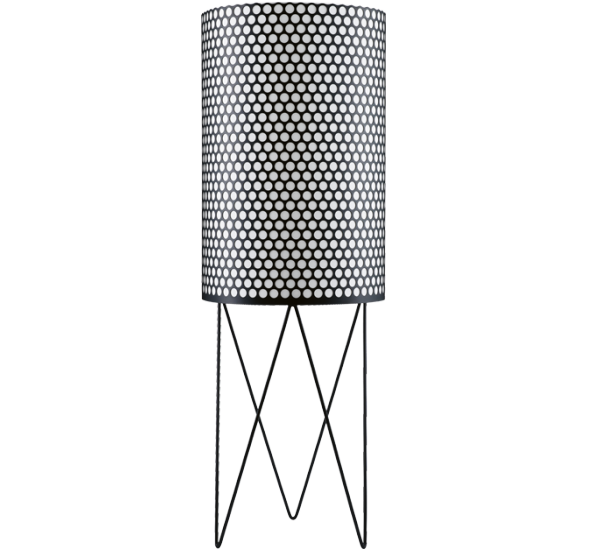 The floor lamp-2 PD Barba Corsini and Joaquim Ruiz Millet collection of Gubi Pedrera is a cylindrical floor lamp made of perforated metal and available in colors: matte black and matte white Many architects and furniture designers of the Bauhaus era intent was to provide houses and furniture made of impeccably 's