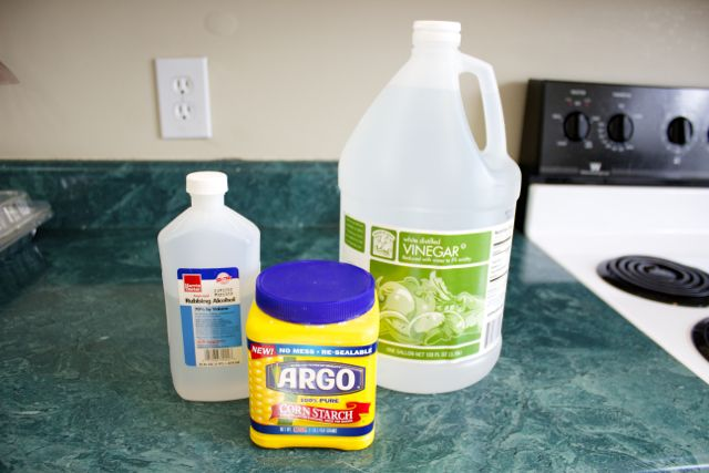 Alcohol Vinegar Corn Starch Glass Cleaner Alcohol
