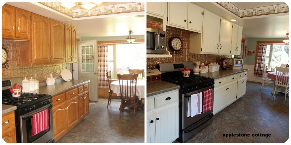Our kitchen cupboards transformed Kitchen cupboards, Cupboard and